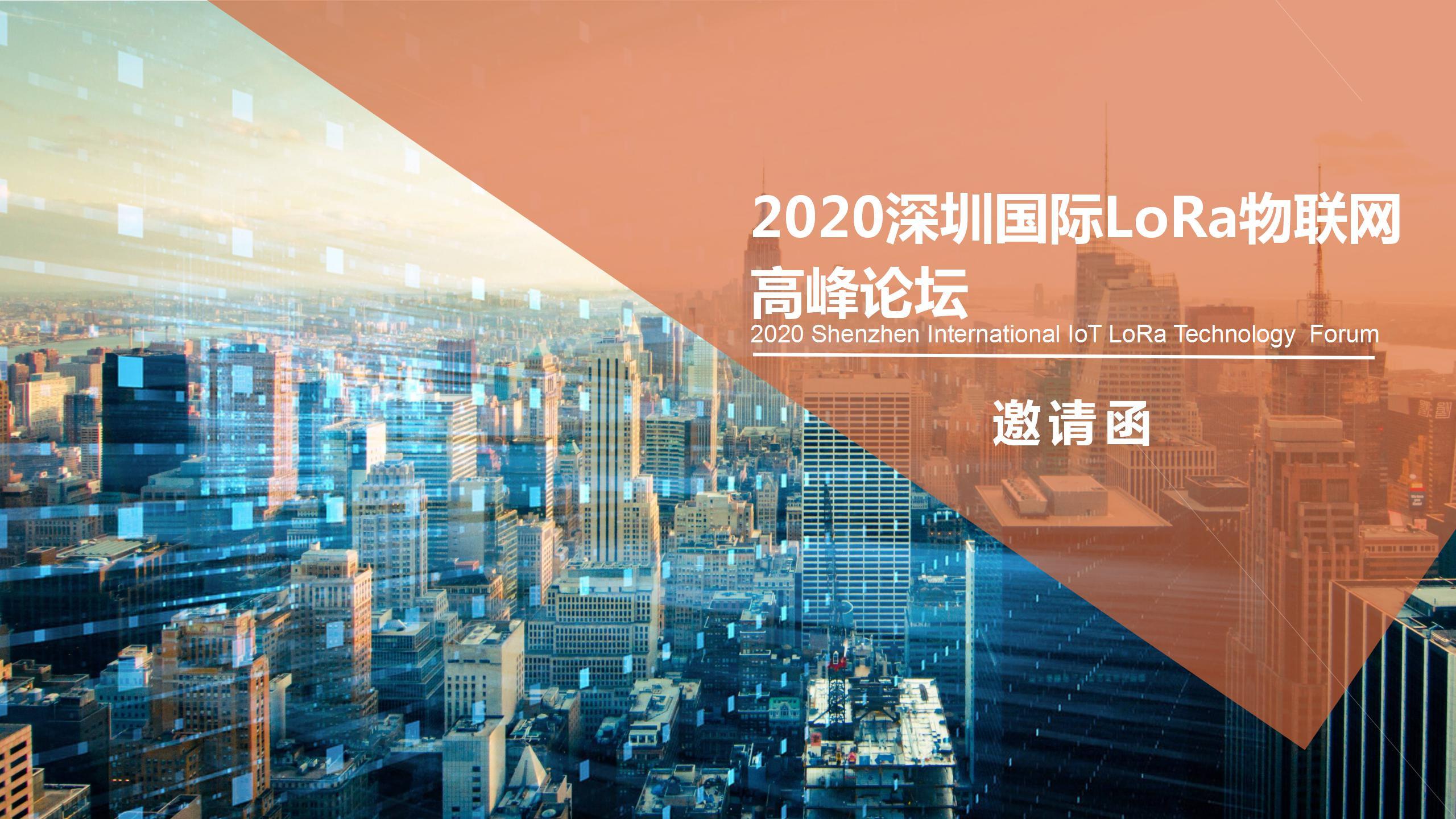 IOTE 2020 深圳国际LoRa物联网 高峰论坛